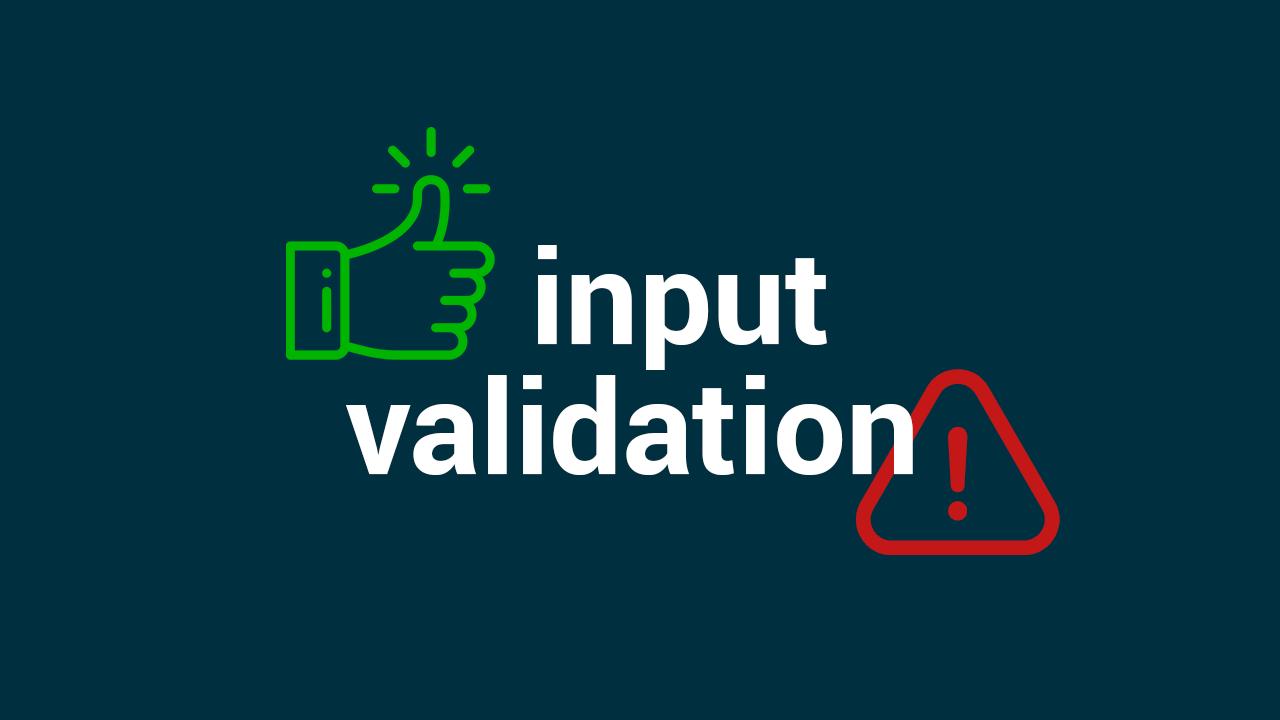 Валидация input